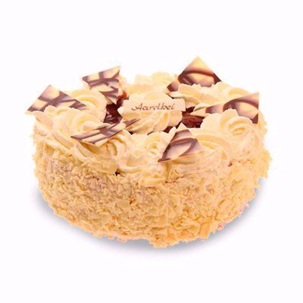 Afbeelding van Aardbeibavaroise taart 12 pers.